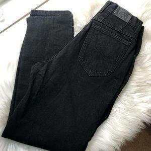 Lee vintage black high waist mom jeans 28 inch
